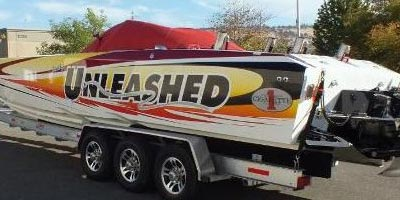 Boat lettering, vinyl registration numbers, vinyl boat name stickers