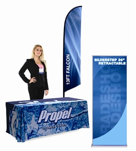 flags tablecloths banners flag stands tradeshow flags promotional flags