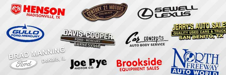 Vinyl logos for auto dealerships