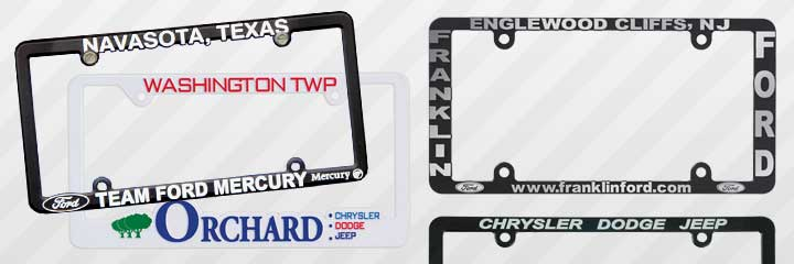 Dealership license plate frames